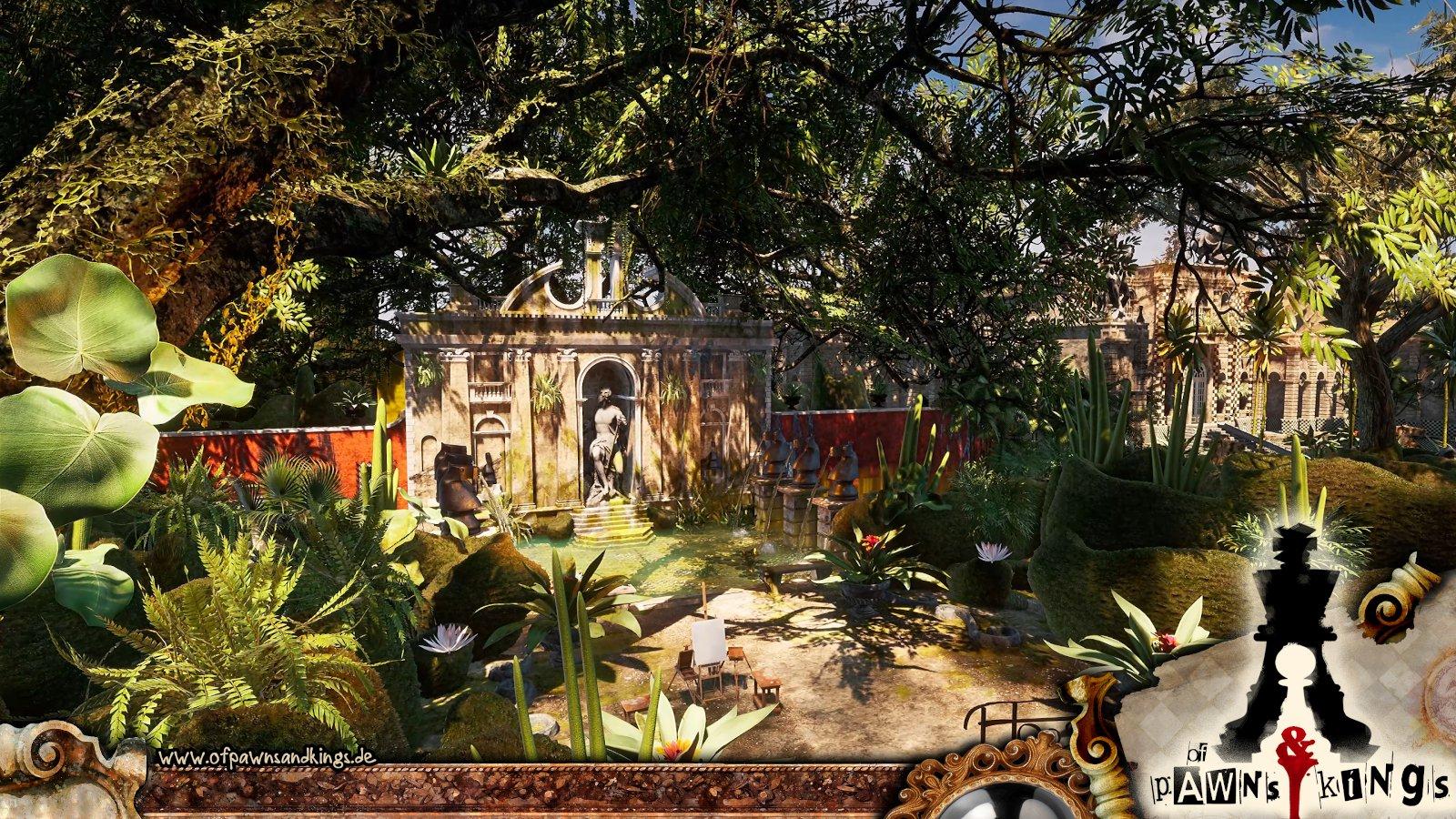 In diesem schönen Garten warten einige Überraschungen auf Nik. (Bild: Ingo Stuckenbrock)