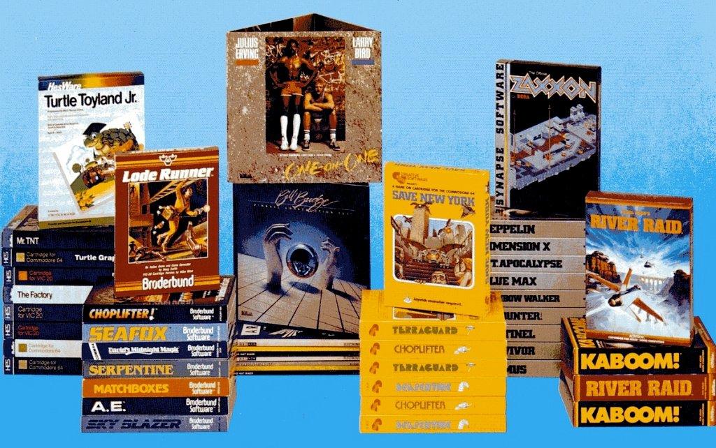 Berühmte Spieletitel aus dem Ariola-Vertrieb: Lode Runner, Zaxxon und River Raid. (Bild: Markt & Technik Verlag)