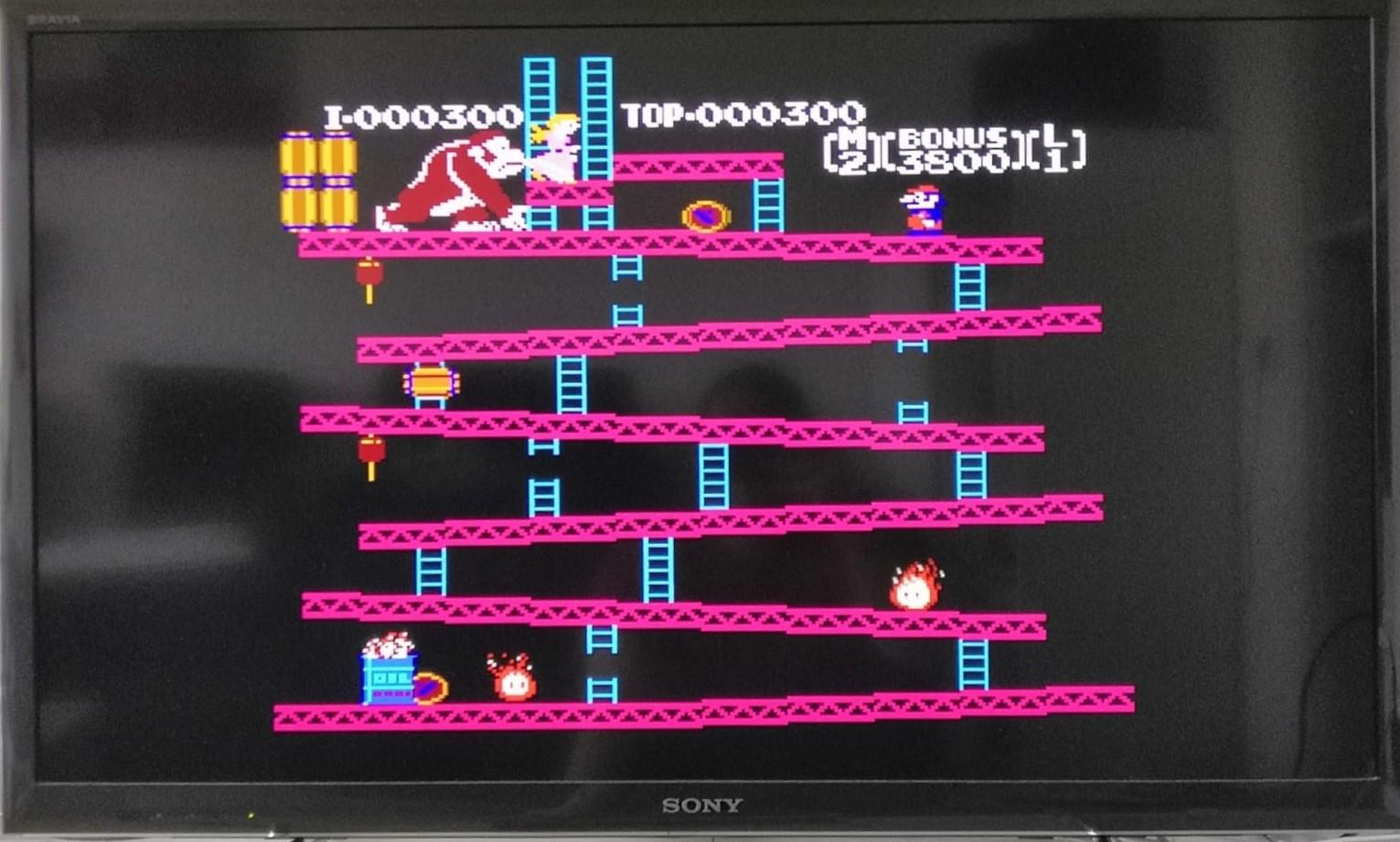 Das klassische Donkey Kong - hier auf einem NES Classic Mini. (Bild: Christian Rohde)