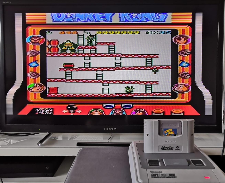 Mit dem Super Game Boy Adapter macht Donkey Kong noch viel mehr Spaß. (Bild: Christian Rohde)