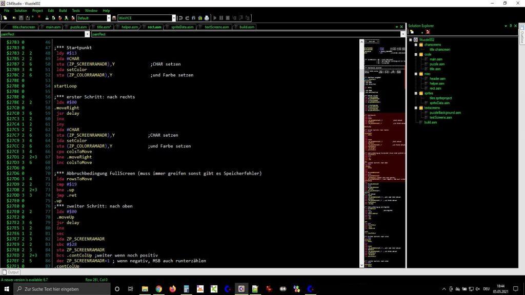 6502 Assembler Code im C64 Studio. (Bild: Gerrit Ludwig)