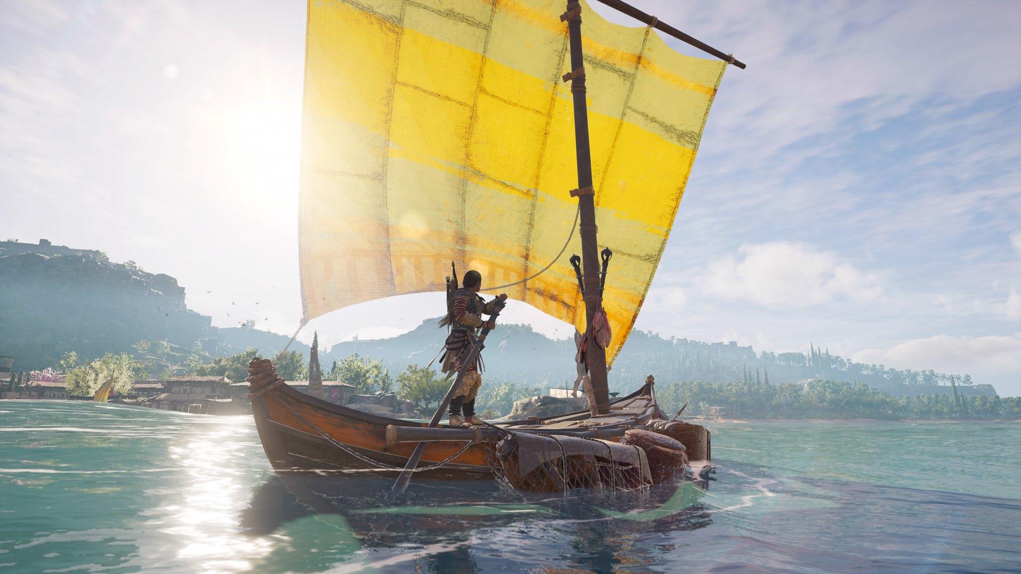 Weite Landschaften und das offene Meer in AC Odyssey (Screenshot: Lenny)