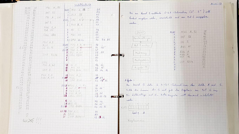 Ein Lauflicht-Programm aus meiner Schulzeit, allerdings nicht ganz das hier beschriebene. (Bild: Gerrit Ludwig)