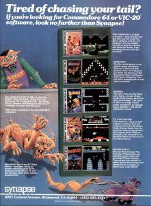 Spiele von Synapse. (Quelle: Creative Computing / Video & Arcade Games, 1983)