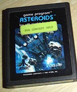 Das spezielle Modul zur Asteroids Weltmeisterschaft enthält nur das Spiel Nr. 6(Quelle: atarimania.com)