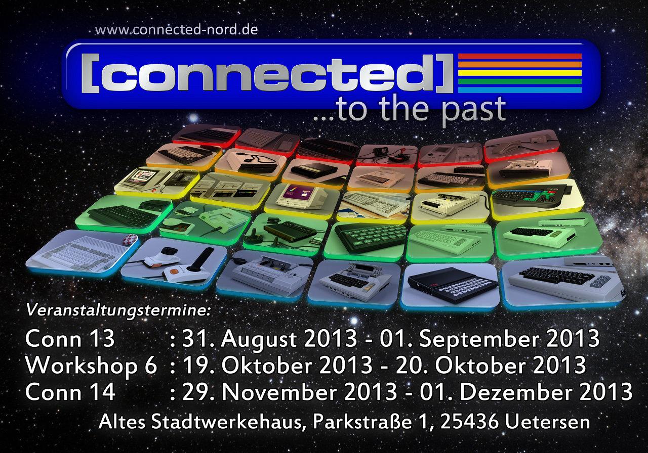 Der offizielle Flyer der connected mit den kommenden Veranstaltungsterminen. (Bild: René Achter)